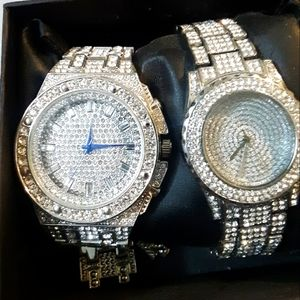 His and hers bust down watches